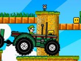 Гонщик Марио на тракторе