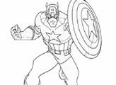 Раскраска: Капитан Америка…