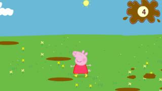 Свинка Пеппа играет в лужах…
