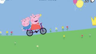 Свинка Пеппа на велосипеде…