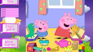 Передвигай кубики со Свинкой Пеппой…