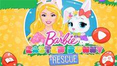 Барби лечит зайчиков