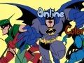 Раскраска: Бэтмен и Голубой жук…