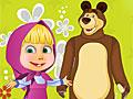 Маша и Медведь в саду