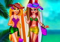 Рапунцель и Эльза на пляже…