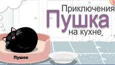 Приключения Пушка на кухне…
