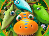 Водопой с динозаврами