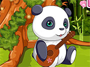 Панда играет