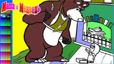 Маша и Медведь: Онлайн раскраска…