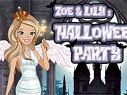 Зоя и Лили на хеллоуине